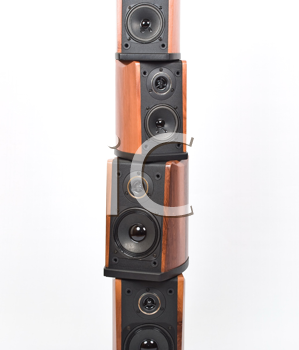 Royalty Free Photo of a Stack of Acoustic Systems