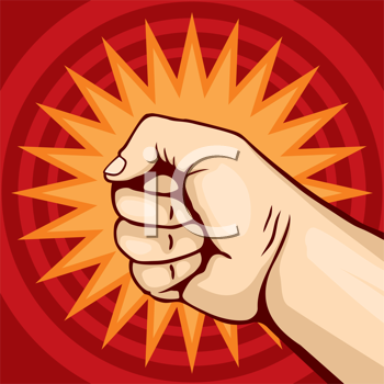 Royalty Free Clipart Image of a Fist