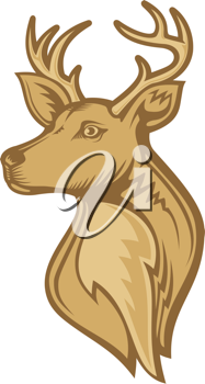 Royalty Free Clipart Image of a Deer Head