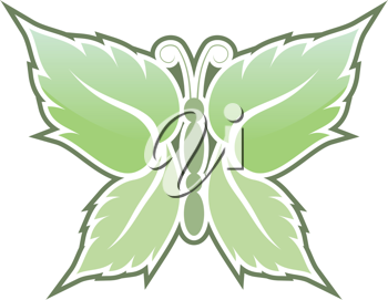 Royalty Free Clipart Image of Butterfly