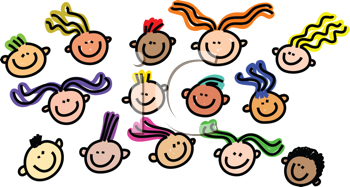 Royalty Free Clipart Image of Faces