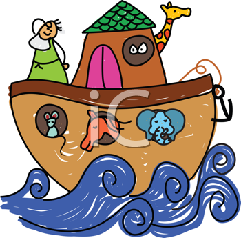 Royalty Free Clipart Image of Noah's Ark