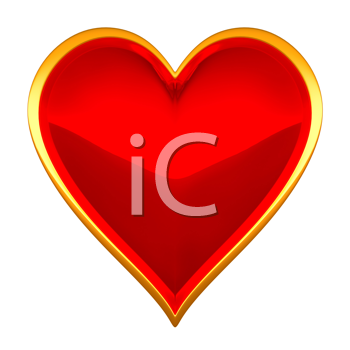 Royalty Free Clipart Image of a Framed Heart Suit