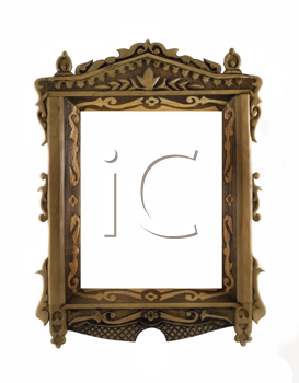 Beautiful wooden carved Frame for picture or portrait over white