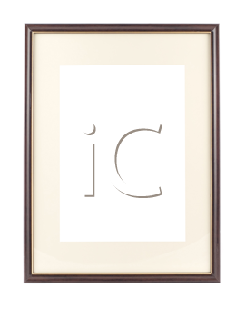 Empty frame for picture or portrait isolated