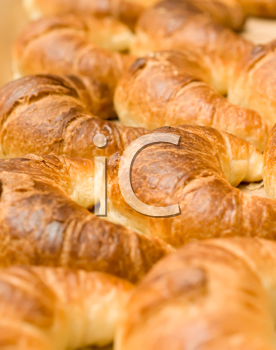 Meal time - group of tasty crescent rolls or croissants