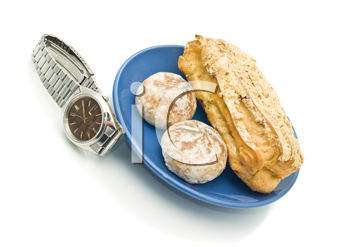 Waiting for Lunch time - Watch and delicious pastry