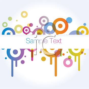 Royalty Free Clipart Image of a Background of Circles With Space for Text