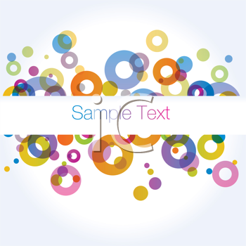 Royalty Free Clipart Image of a Circle Background With a Text Band