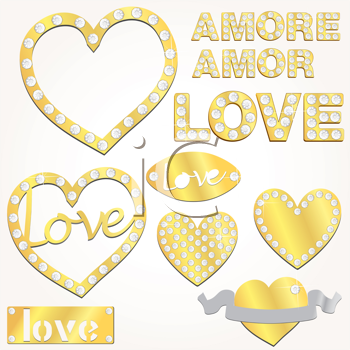 Royalty Free Clipart Image of Love Symbols