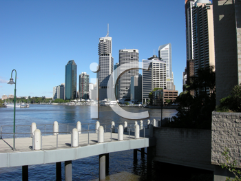 Royalty Free Photo of a View of Brisbane From the Bridge