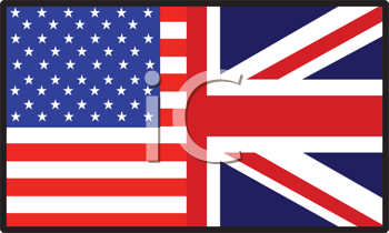 Royalty Free Photo of a Half American Half British Flag