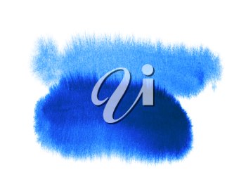 Bright blue abstract watercolor background