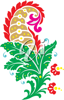 Royalty Free Clipart Image of a Flowery Design