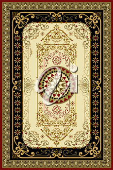 Royalty Free Clipart Image of an Oriental Rug Background