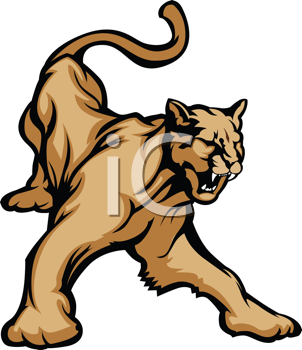 Royalty Free Clipart Image of a Cougar