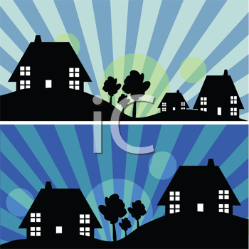 Royalty Free Clipart Image of a House Background
