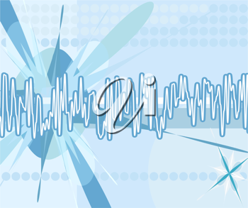 Royalty Free Clipart Image of a Technological Background