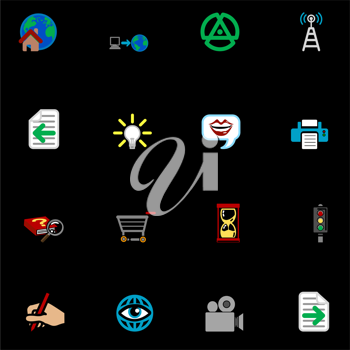 Royalty Free Clipart Image of Internet Web Icons