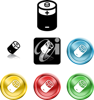 Royalty Free Clipart Image of Battery Icons