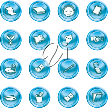 Royalty Free Clipart Image of a Set of Business and Office Icons