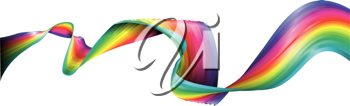 Royalty Free Clipart Image of a Flowing Rainbow