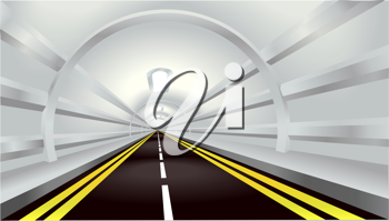 Royalty Free Clipart Image of an Illustration of a Road