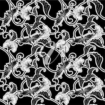 Royalty Free Clipart Image of an Ornate Background