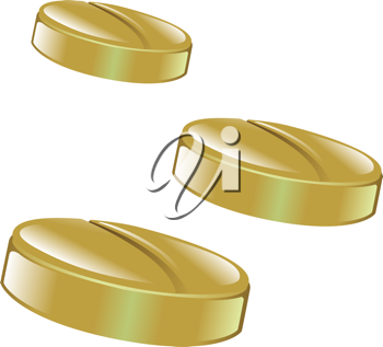 Royalty Free Clipart Image of Pill Tablets