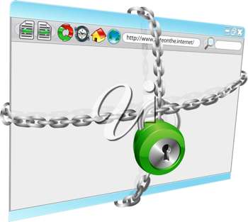 Royalty Free Clipart Image of an Internet Security Illustration