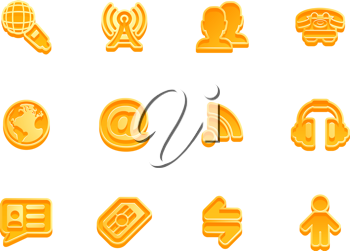 Royalty Free Clipart Image of Communication Icons