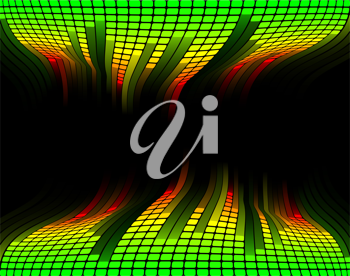 Royalty Free Clipart Image of an Abstract Equalizer Background