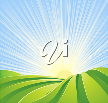 Royalty Free Clipart Image of a Field