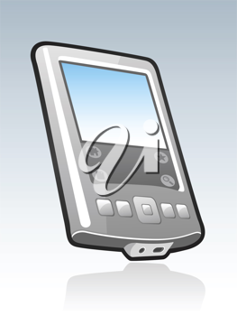 Royalty Free Clipart Image of a Mobile Device