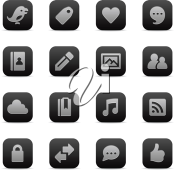 Royalty Free Clipart Image of Social Media Icons