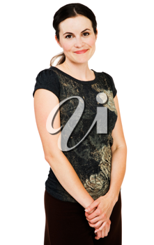 Royalty Free Photo of a Woman Smiling
