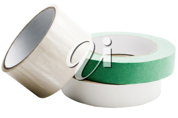 Royalty Free Photo of a Stacks of Adhesive Tape