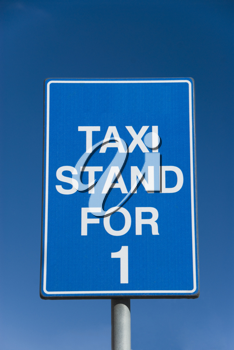 Close-up of a taxi stand board, Malta
