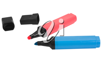 Close-up of highlighter pens