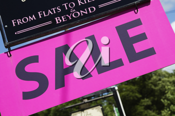 Close-up of an advertisement board, Adare, County Limerick, Republic of Ireland