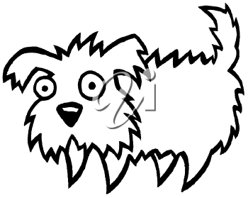 Royalty Free Clipart Image of a Fluffy Dog
