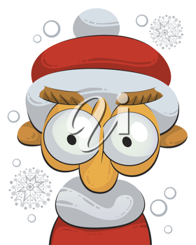 Royalty Free Clipart Image of a Santa Claus Gnome