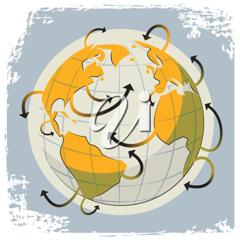 Royalty Free Clipart Image of an Abstract World Design