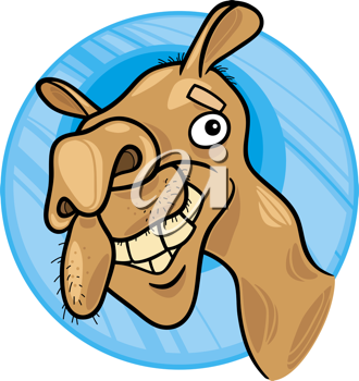 Royalty Free Clipart Image of a Camel's Face