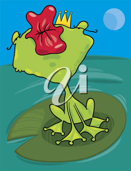 Royalty Free Clipart Image of a Frog Prince