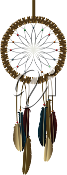 Royalty Free Clipart Image of a Dream-Catcher