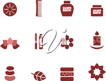 Royalty Free Clipart Image of Wellness Icons