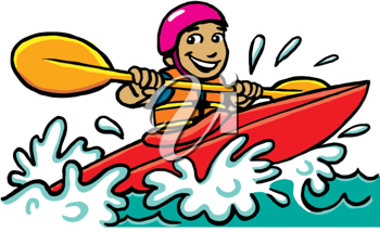 Royalty Free Clipart Image of a Kayaker