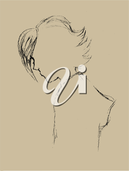Royalty Free Clipart Image of a Drawing of a Person