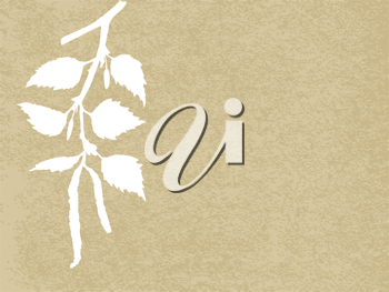 Royalty Free Clipart Image of a Birch Branch